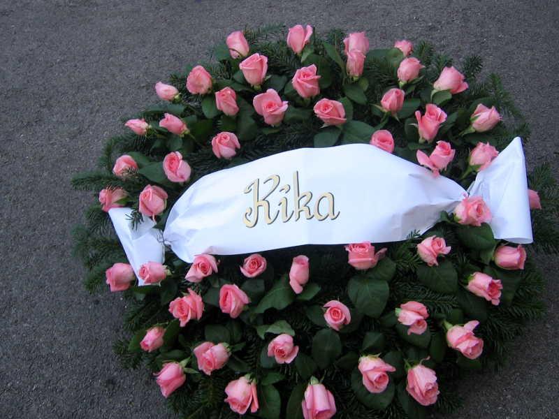 11 Trauerkranz Rosen rosa