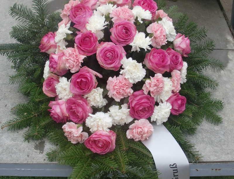 20 Bukett mit pinken Rosen und rosa Nelken