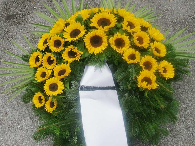 35 Trauerkranz Sonnenblumen